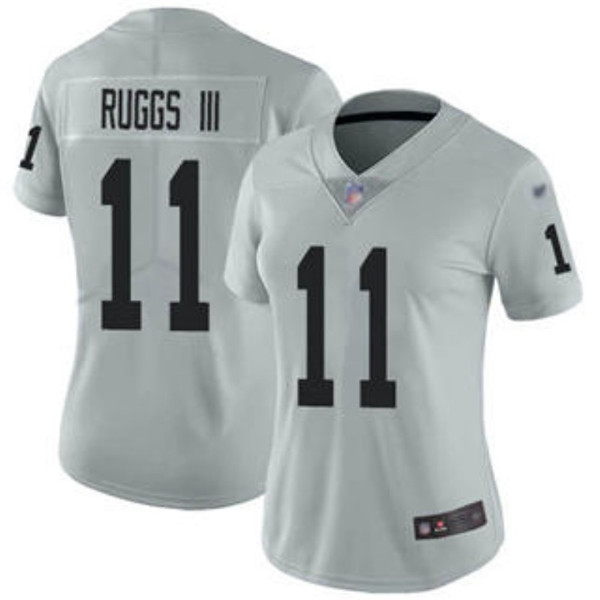Women's Las Vegas Raiders #11 Henry Ruggs III Grey Vapor Untouchable Limited Stitched NFL Jersey(Run Small)