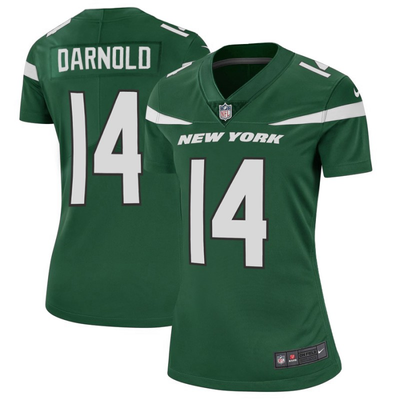 Women's New York Jets #14 Sam Darnold Green Vapor Untouchable Limited Stitched NFL Jersey