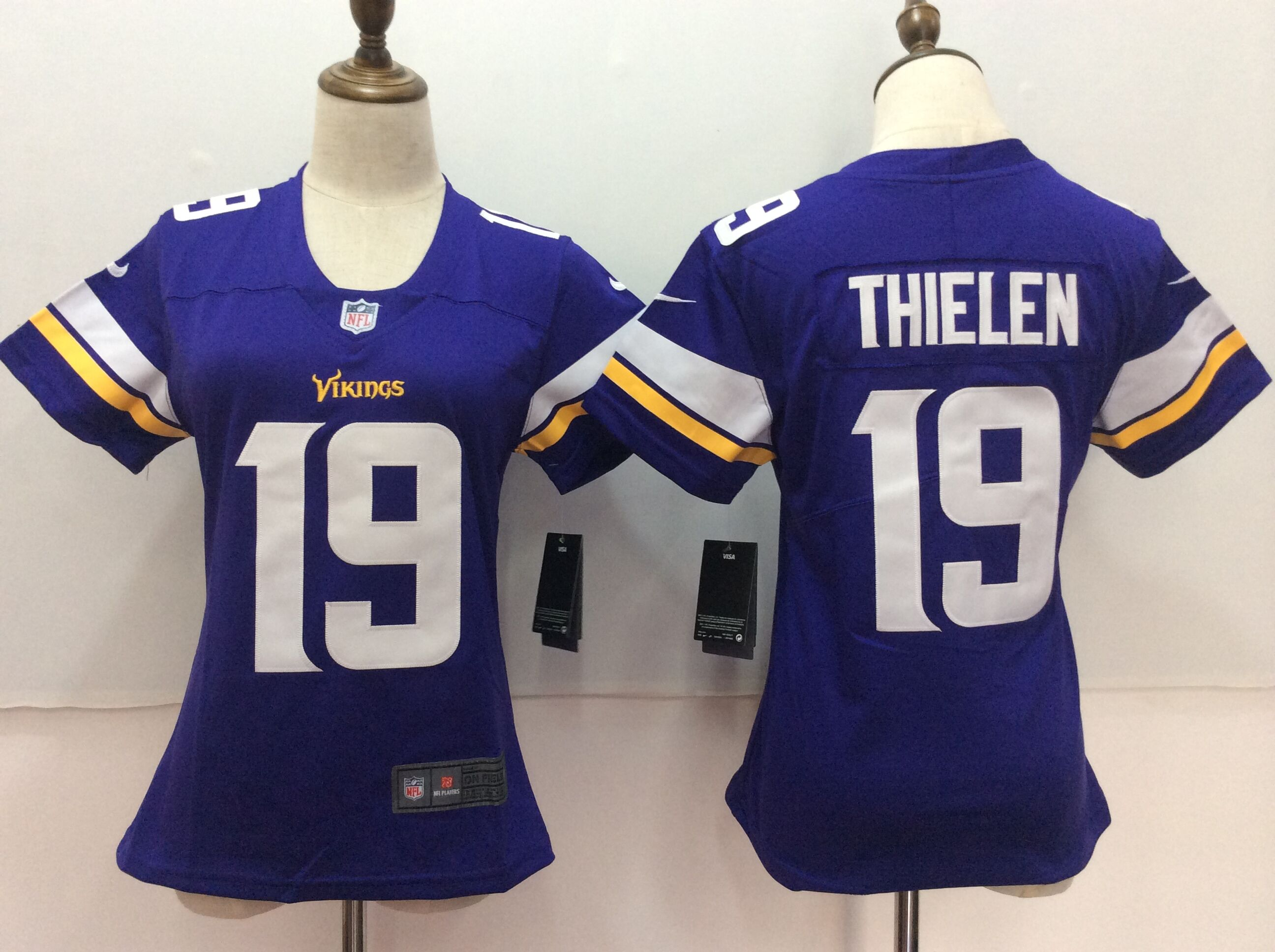 Women's Nike Minnesota Vikings #19 Adam Thielen Purple Untouchable Limited Stitched NFL Jersey