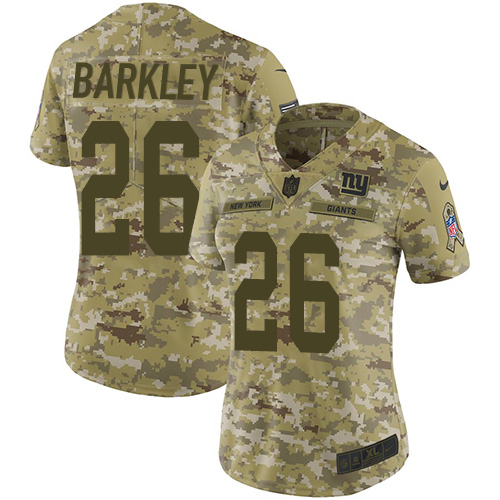 Women's New York Giants #26 Saquon Barkley 2018 Camo Salute To Service Limited Stitched NFL Jersey