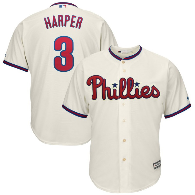 Women's Philadelphia Phillies #3 Bryce Harper Majestic White Home Cool Base Stitched MLB Jersey(Run Small)