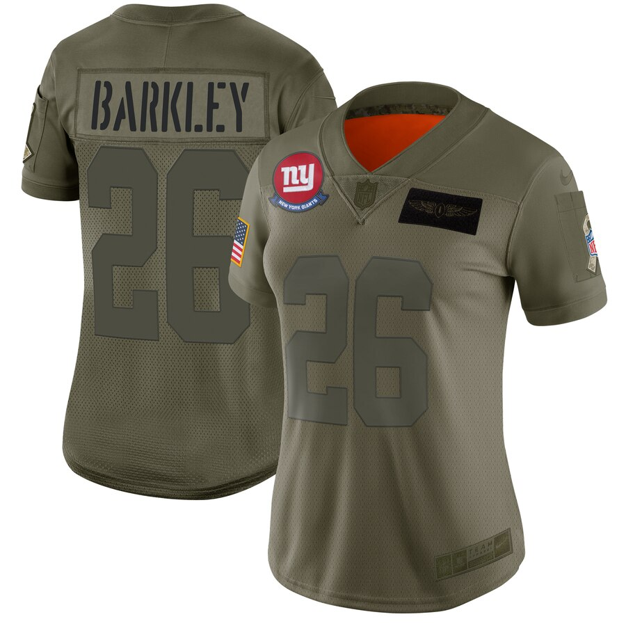 Women's New York Giants #26 Saquon Barkley 2019 Camo Salute To Service Limited Stitched NFL Jersey(Run Small)