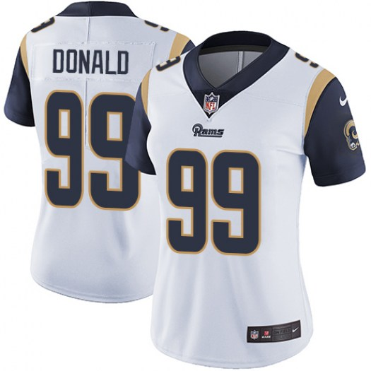 Women's Los Angeles Rams #99 Aaron Donald White Vapor Untouchable Limited Stitched NFL Jersey (Run Small)