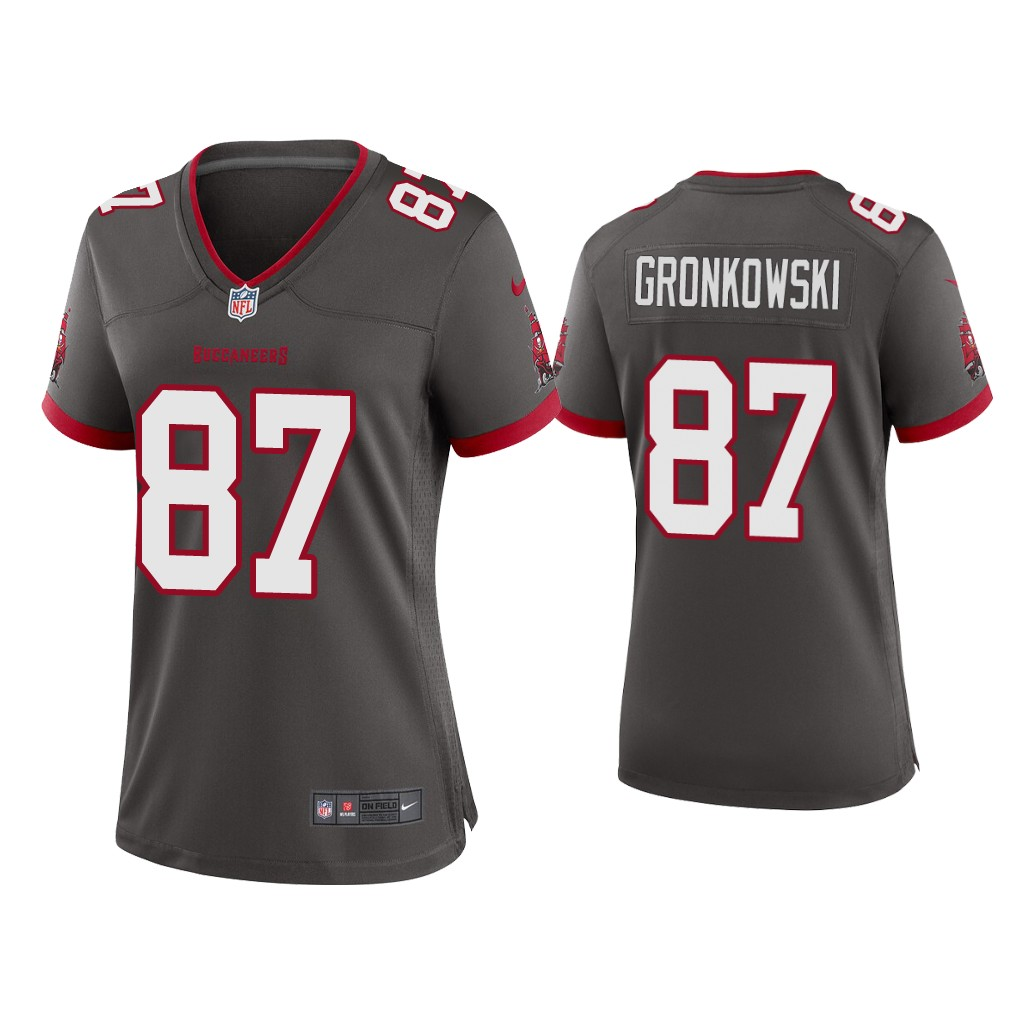 Women's Tampa Bay Buccaneers #87 Rob Gronkowski 2020 Grey Stitched Jersey(Run Small)