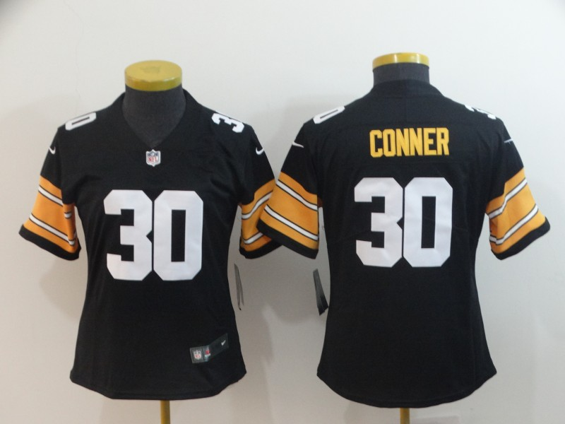 Women's Pittsburgh Steelers #30 James Conner 2018 Black Vapor Untouchable Limited Stitched NFL Jersey