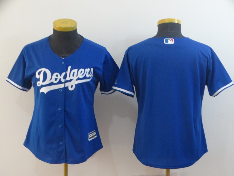 Women's Los Angeles Dodgers Blue Blank Cool Base Stitched MLB Jersey(Run Small)