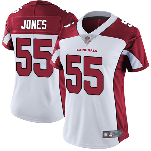 Women's Arizona Cardinals #55 Chandler Jones White Vapor Untouchable Limited Stitched NFL Jersey(Run Small)