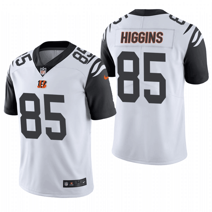 Women's Cincinnati Bengals #85 Tee Higgins White Vapor Untouchable Limited Stitched Jersey(Run Small)