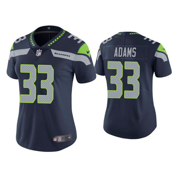 Women's Seattle Seahawks #33 Jamal Adams Navy Untouchable Limited Stitched Jersey
