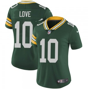 Women's Green Bay Packers #10 Jordan Love Green Vapor Untouchable Limited Stitched Jersey(Run Small)