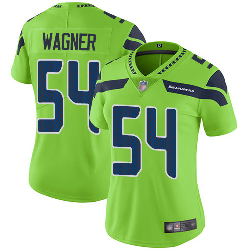 Women's Seahawks #54 Bobby Wagner Green Vapor Untouchable Limited Stitched NFL Jersey
