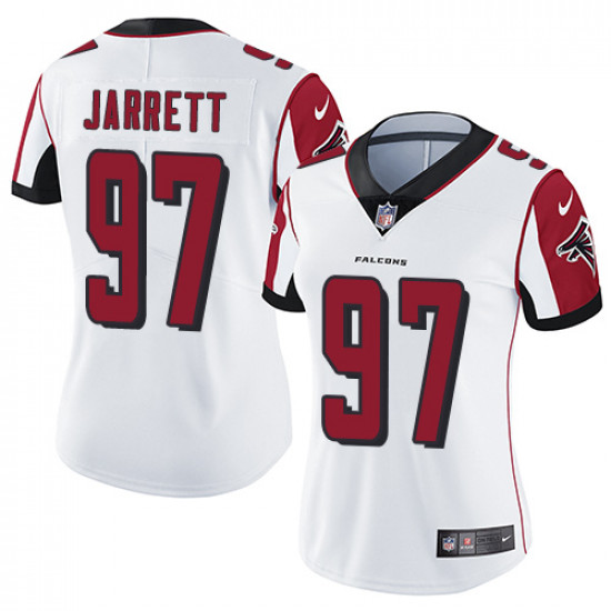 Women's Atlanta Falcons # 97 Grady Jarrett White Vapor Untouchable Limited Stitched NFL Jersey(Run Small)