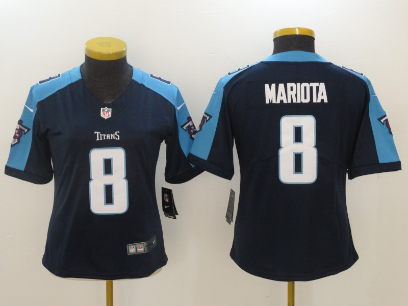 Women's Tennessee Titans #8 Marcus Mariota Navy New 2018 Vapor Untouchable Limited Stitched NFL Jersey