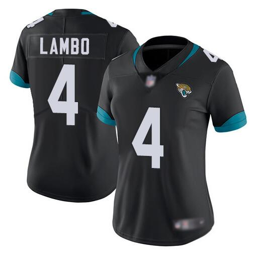 Women's Jacksonville Jaguars #4 Josh Lambo Black Vapor Untouchable Limited Stitched NFL Jersey(Run Small)