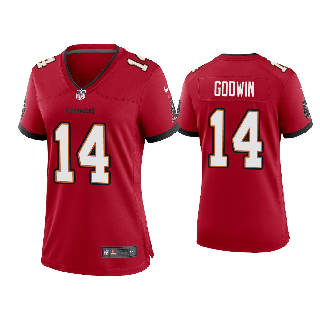 Women's Tampa Bay Buccaneers #14 Chris Godwin 2020 Red Stitched Jersey(Run Small)