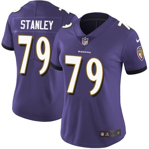 Women's Baltimore Ravens #79 Ronnie Stanley Purple Vapor Untouchable Limited Stitched NFL Jersey( Run Small)