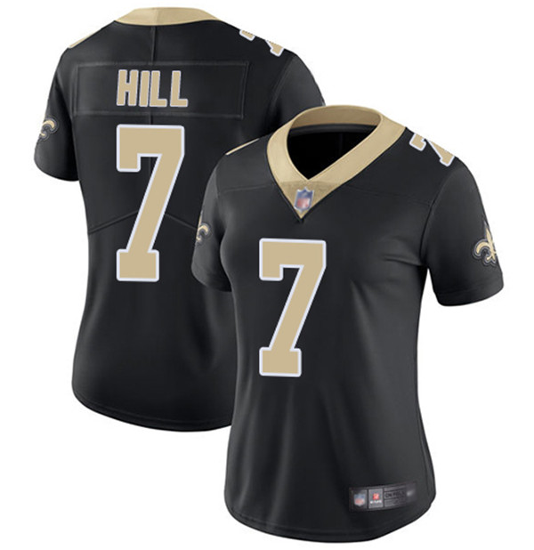 Women's New Orleans Saints #7 Taysom Hill 2020 Black Vapor Untouchable Limited Stitched Jersey(Run Small)