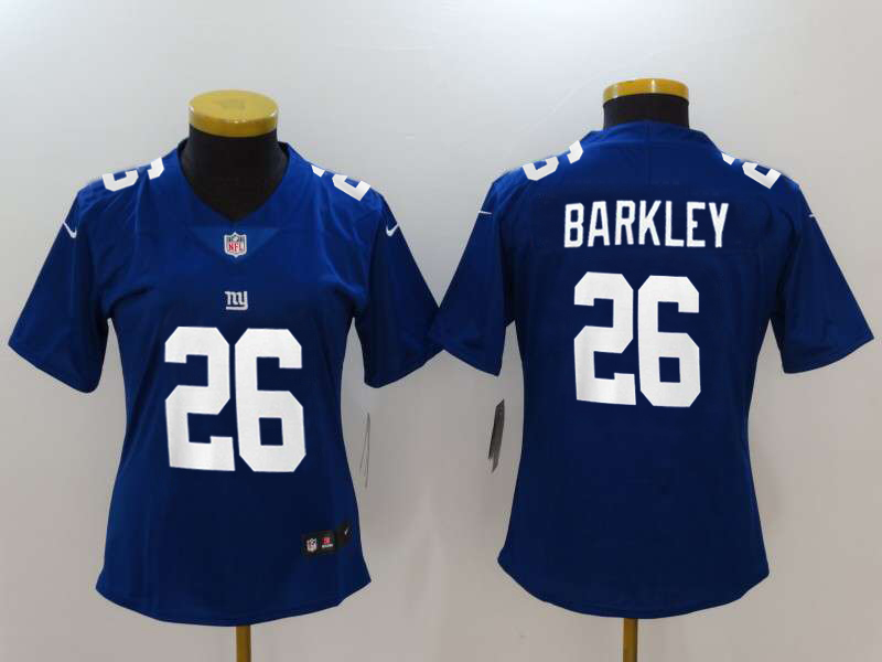 Women's New York Giants #26 Saquon Barkley Royal 2018 NFL Draft Vapor Untouchable Limited Stitched Jersey