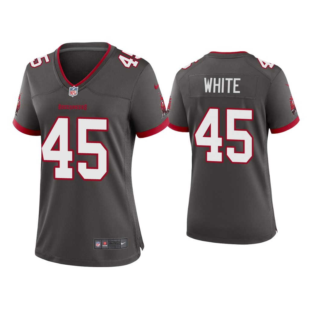 Women's Tampa Bay Buccaneers #45 Devin White 2020 Grey Stitched Jersey(Run Small)