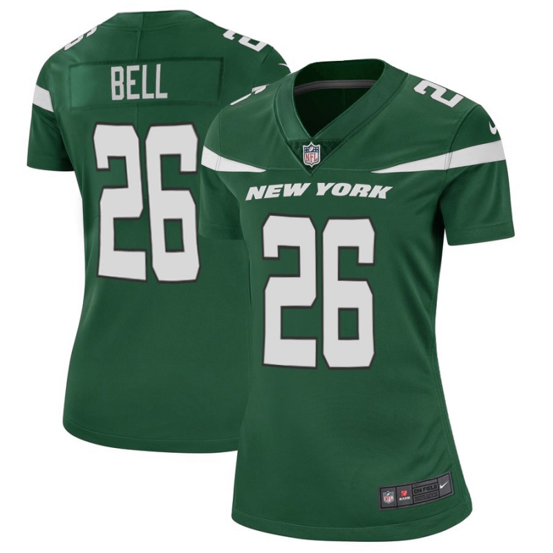 Women's New York Jets #26 Le'Veon Bell Green Vapor Untouchable Limited Stitched NFL Jersey