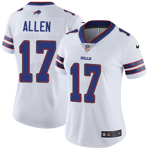 Women's Bills #17 Josh Allen White Vapor Untouchable Limited Stitched NFL Jersey