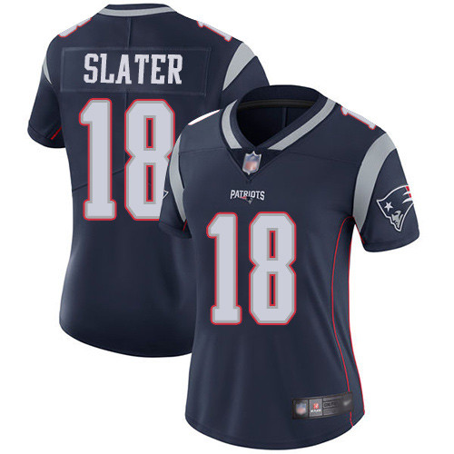 Women's New England Patriots #18 Matthew Slater Navy Vapor Untouchable Limited Stitched NFL Jersey(Run Small)