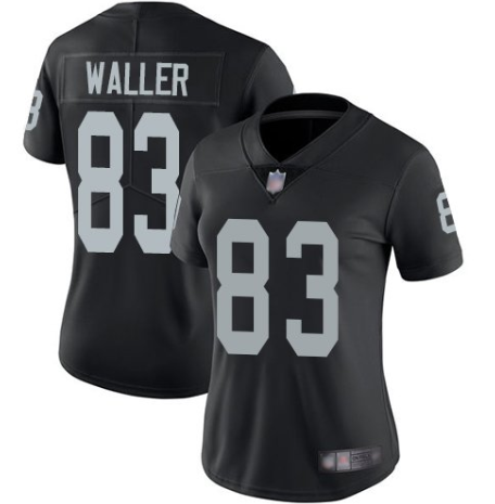 Women's Oakland Raiders #83 Darren Waller Black Vapor Untouchable Limited Stitched NFL Jersey(Run Small)