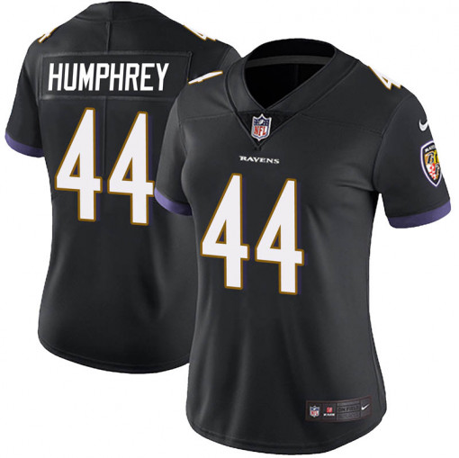 Women's Baltimore Ravens #44 Marlon Humphrey Black Vapor Untouchable Limited NFL Jersey(Run Small)