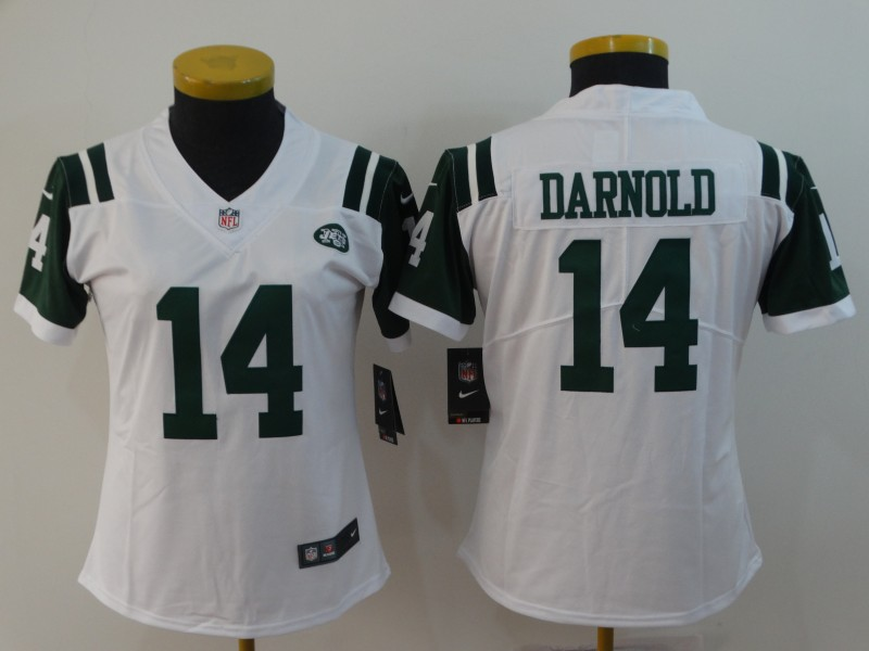 Women's Jets #14 Sam Darnold White Vapor Untouchable Limited Stitched NFL Jersey