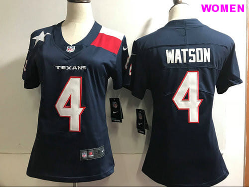 Women's Houston Texans #4 Deshaun Watson Navy Vapor Untouchable Limited Stitched NFL Jersey
