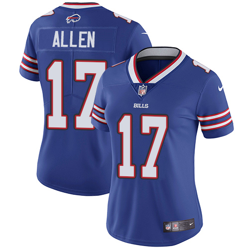 Women's Bills #17 Josh Allen Blue Vapor Untouchable Limited Stitched NFL Jersey