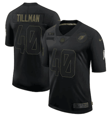 Women's Arizona Cardinals #40 Pat Tillman 2020 Black Salute To Service Limited Stitched NFL Jersey(Run Small)
