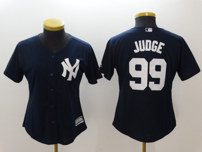 Men's New York Yankees #99 Aaron Judge Navy Cool Base Stitched MLB Jersey