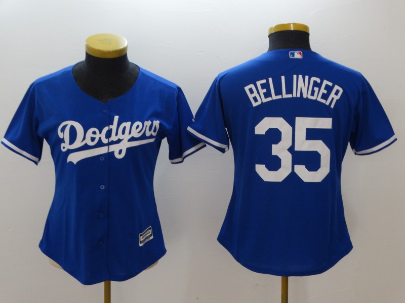 Women's Los Angeles Dodgers #35 Cody Bellinger Blue Cool Base Stitched MLB Jersey