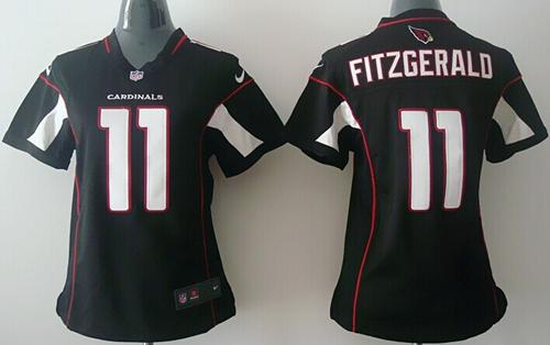 Nike Cardinals #11 Larry Fitzgerald Black Alternate Women's Stitched NFL Elite Jersey