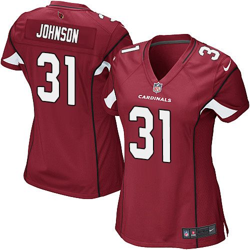 Nike Cardinals #31 David Johnson Red Team Color Women's Stitched NFL Elite Jersey