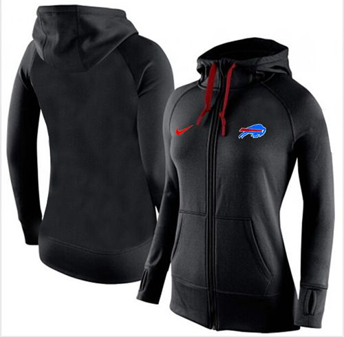 Women's Nike Buffalo Bills Full-Zip Performance Hoodie Black