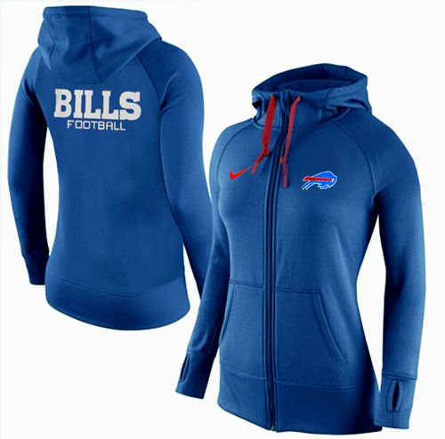 Women's Nike Buffalo Bills Full-Zip Performance Hoodie Blue