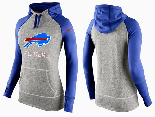 Women's Nike Buffalo Bills Performance Hoodie Grey & Blue_1