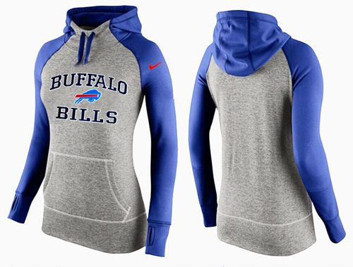 Women's Nike Buffalo Bills Performance Hoodie Grey & Blue_2
