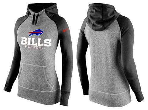 Women's Nike Buffalo Bills Performance Hoodie Grey & Black