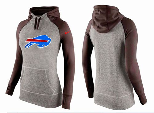 Women's Nike Buffalo Bills Performance Hoodie Grey & Brown