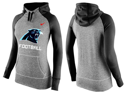 Women's Nike Carolina Panthers Performance Hoodie Grey & Black