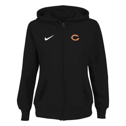 Women's Chicago Bears Stadium Rally Full Zip Hoodie Black