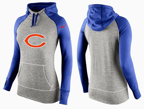 Women's Nike Chicago Bears Performance Hoodie Grey & Blue