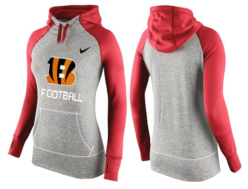Women's Nike Cincinnati Bengals Performance Hoodie Grey & Red_1