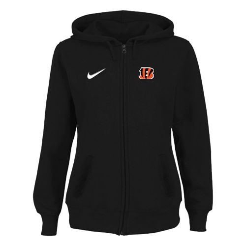 Women's Cincinnati Bengals Stadium Rally Full Zip Hoodie Black