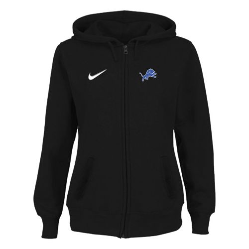 Women's Detroit Lions Stadium Rally Full Zip Hoodie Black