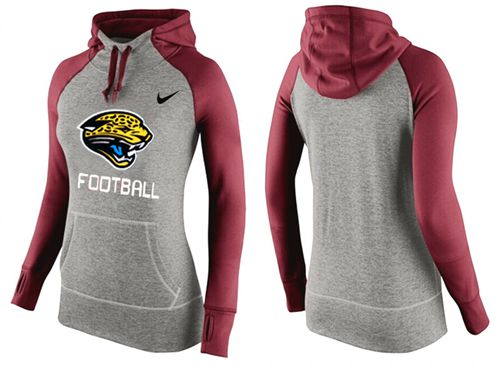 Women's Nike Jacksonville Jaguars Performance Hoodie Grey & Red