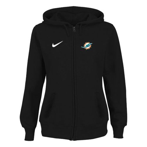 Women's Miami Dolphins Stadium Rally Full Zip Hoodie Black